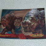 Star Wars Evolution topps 2001 Rancor Monster Foil Card